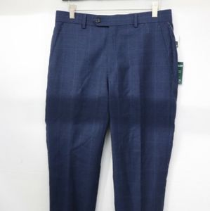 Lauren by Ralph Lauren Men's Navy Plaid Pants